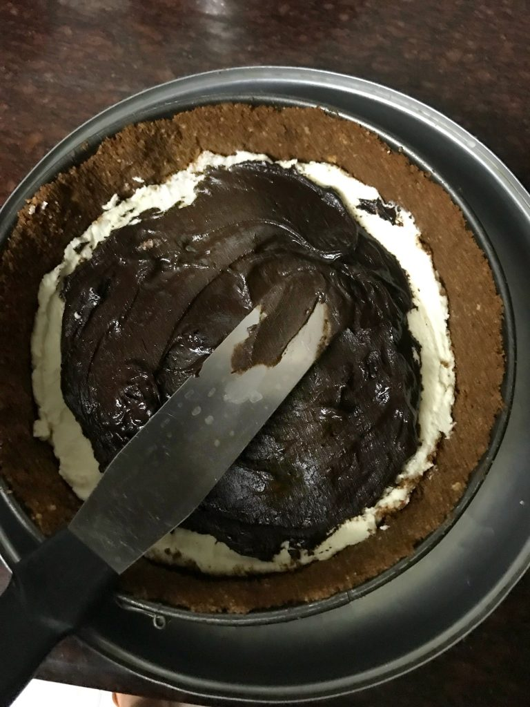 No bake Paneer Chocolate Peanut Butter Cheesecake 5