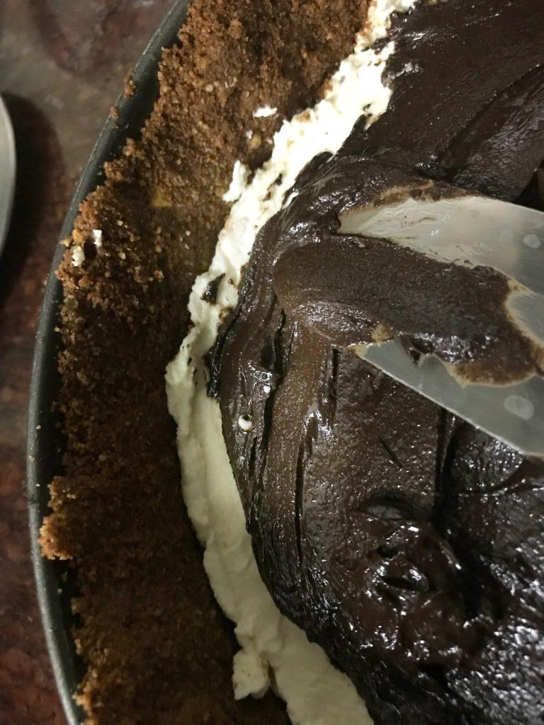 No bake Paneer Chocolate Peanut Butter Cheesecake 4