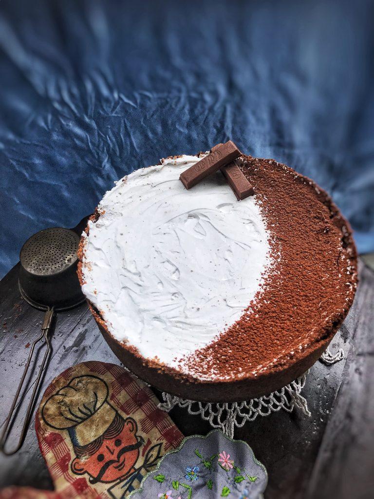 No bake Paneer Chocolate Peanut Butter Cheesecake 7