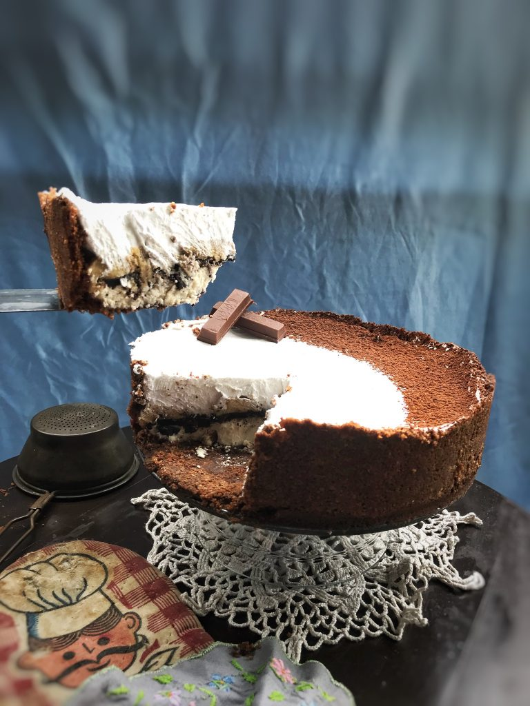 No bake Paneer Chocolate Peanut Butter Cheesecake 6